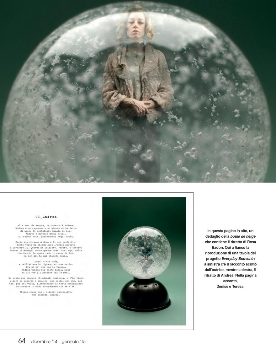 Loredana de Pace, Fiabe del Quotidiano, FOTO Cult, dicembre 2014 - gennaio 2015 1